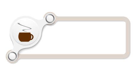 brown box: Vector marrone casella per il testo e la tazza di caff�
