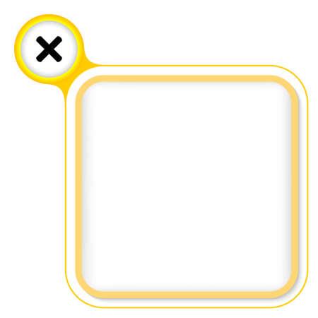 multiplicaci�n: Marco amarillo para el texto y la multiplicaci�n de s�mbolos