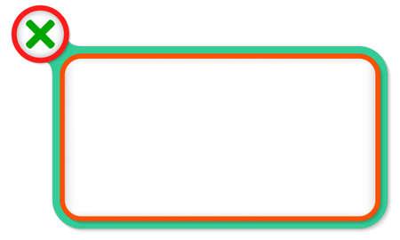 multiplicacion: Marco verde para el texto y la multiplicación símbolo