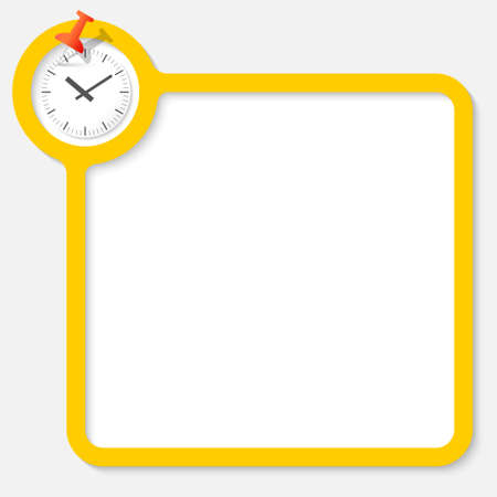 your text: Yellow frame for your text and watches