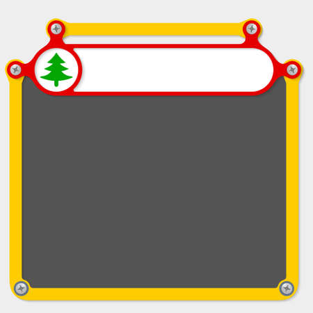 headline: Red frame for headline and tree symbol