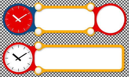 Two vector abstract frames for your text and watches Vector