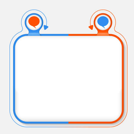 annular: Abstract frame for your text and speech bubble Illustration