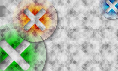 teorema: Símbolos de multiplicación de colores transparentes y fondo abstracto Vectores