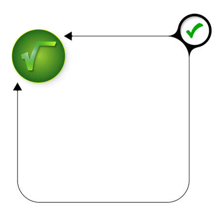 square root: Abstract frame for your text with check box and radix symbol Illustration