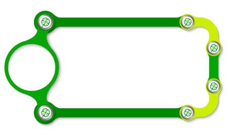 cloverleaf: Colored frame with screws and cloverleaf