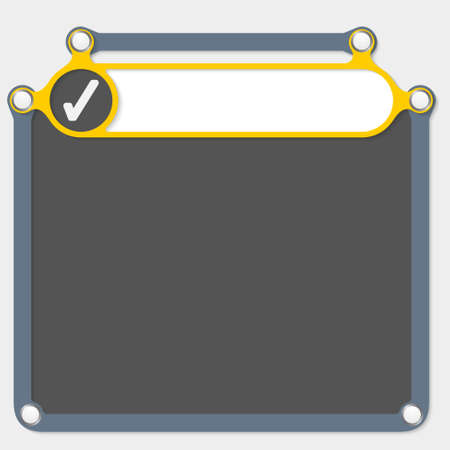 headline: Yellow frame for headline and check box Illustration