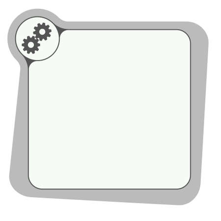 cogwheels: Flat frame for your text and cogwheels Illustration