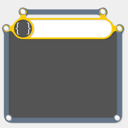 headline: Yellow frame for headline and square brackets Illustration