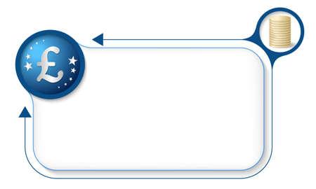 pound sterling: Marco para el texto con el símbolo de la libra esterlina y la moneda