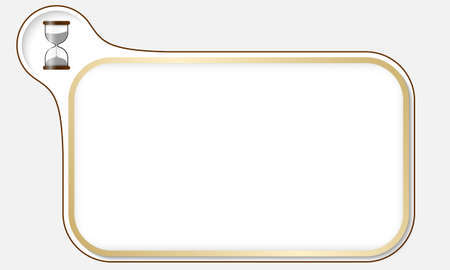 sand glass: Golden frame for your text and sand glass
