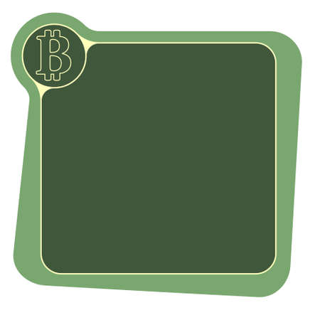 bit: Flat frame for your text and bit coin symbol Illustration
