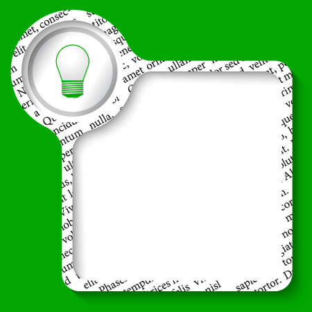 green bulb: vector box for any text and green bulb Illustration