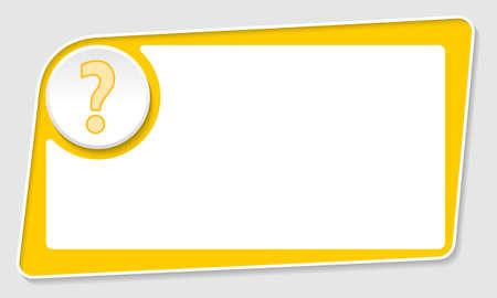 signo de interrogacion: Resumen de vectores cuadro amarillo y signo de interrogación