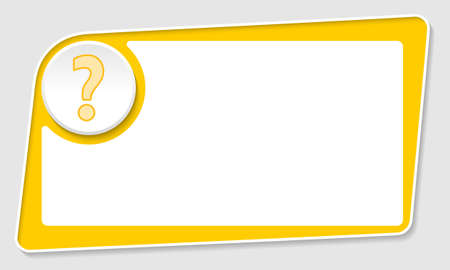 web templates: vector abstract yellow box and question mark