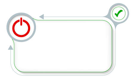 check box: Frame for your text with power button and check box