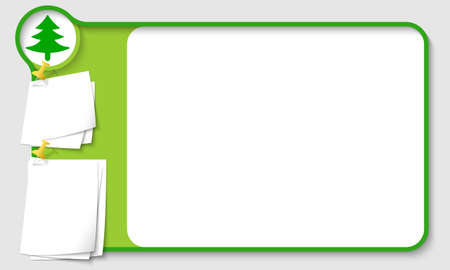 remark: Abstract frame for your text with tree symbol and  papers for remark Illustration