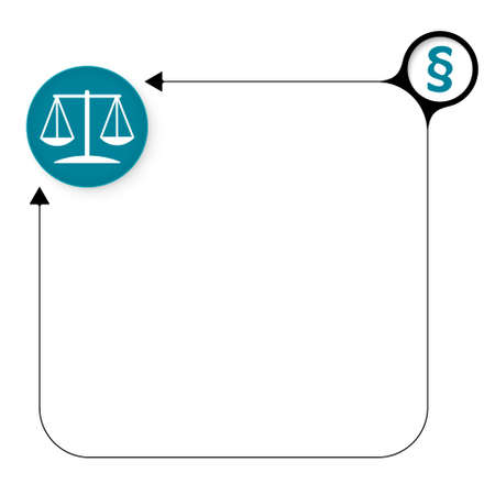 jury box: Abstract frame for your text and lawyer symbol Illustration