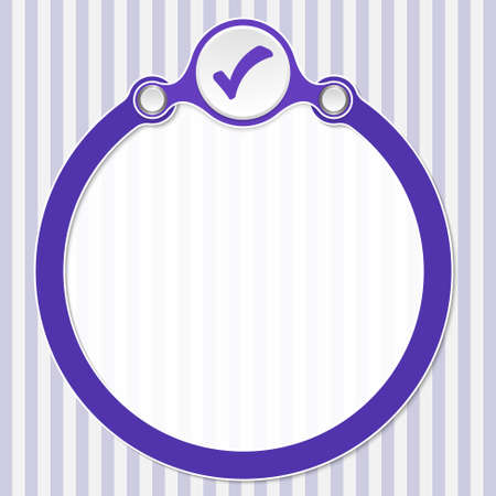 annular: Circular frame for your text and check mark