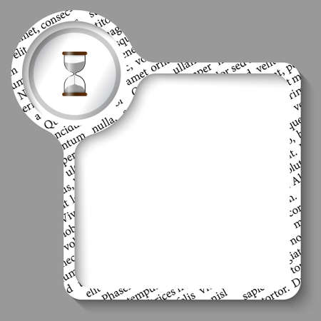 sand glass: vector box for any text and sand glass Illustration