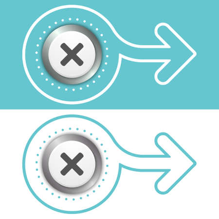 multiplicaci�n: Simple extracto flecha plana y el s�mbolo de la multiplicaci�n Vectores