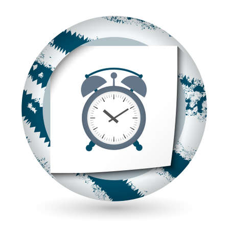 abstract alarm clock: Abstract icon with paper and alarm clock Illustration