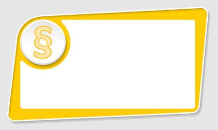 jury box: Vector abstract yellow box and paragraph