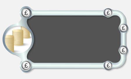 Metallic Frame For Your Text And The Symbol Of Pound Sterling
