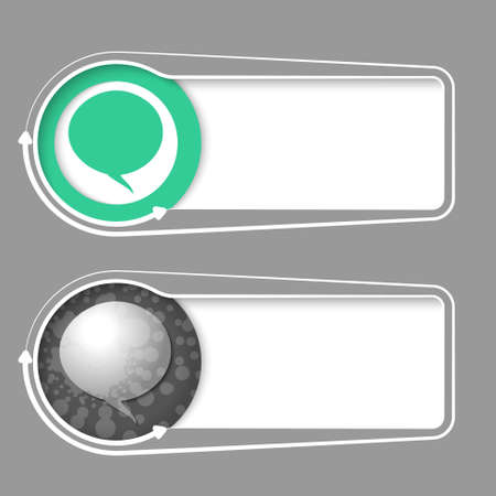 text bubble: Vector frames for your text with abstract sample and speech bubble
