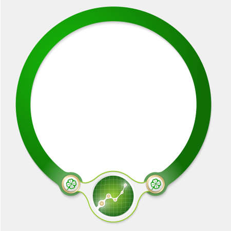 office products: Green circular frame for your text and graph