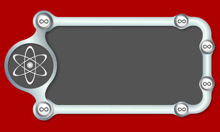 infinity symbol: Metallic frame for your text and science and infinity symbol