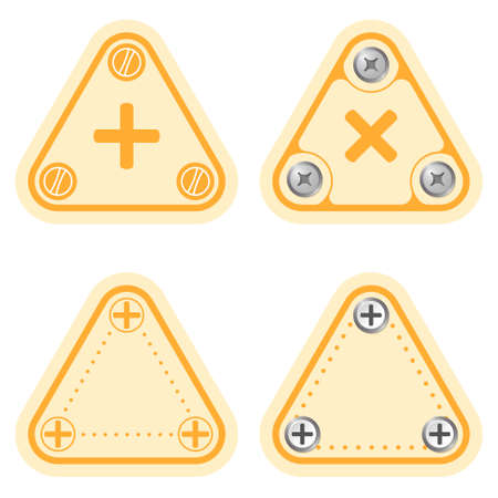 plus symbol: Set of four flat simple frames and plus symbol