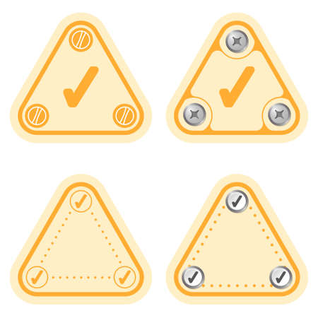 check box: Set of four flat simple frames and check box
