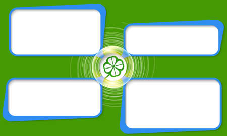 cloverleaf: Four connected frames for your text and cloverleaf