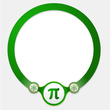 annular: Green circular frame for your text and pi