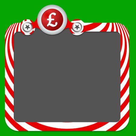 pound sterling: Marco abstracto para el texto y la libra esterlina Vectores