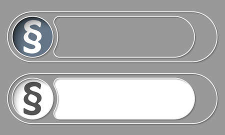 jury box: Set of two simple buttons and paragraph Illustration