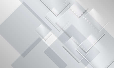 Abstract backround and transparent glass rectangles Ilustrace
