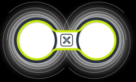 multiplicacion: Dos marcos circulares de color para el texto y la multiplicación símbolo