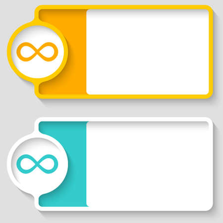 Colored boxes for your text and infinity symbol