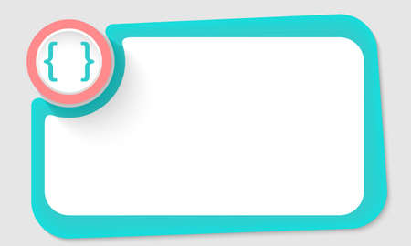 brackets: Pink circle and square brackets and green frame for your text Illustration