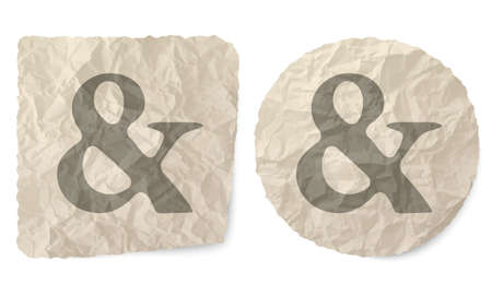 ampersand: Crumpled slip of paper and a ampersand