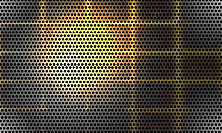 perforated sheet: Vector abstract background and with perforated sheet and glow