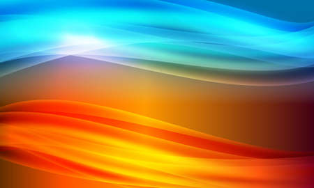 Abstract background with colored waves and glow Zdjęcie Seryjne - 43831070
