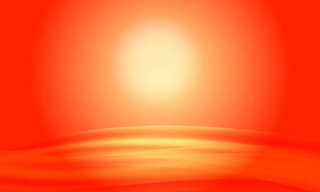 red abstract background: red abstract background sunset with waves Illustration