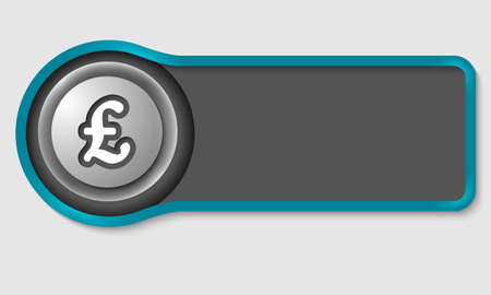 pound sterling: Abstract button for your white text and pound sterling symbol