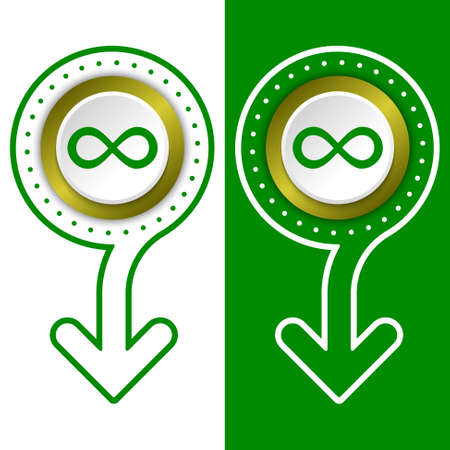 infinity symbol: Simple flat abstract arrow and infinity symbol Illustration