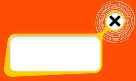 multiplicacion: Vector cuadro de texto para el texto con espirales y símbolo de multiplicación