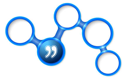 quotation: Abstract circular frames for your text and quotation mark