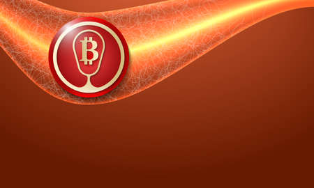 bit: Vector abstract background and golden bit coin symbol